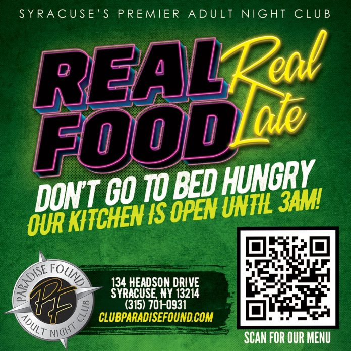 Real Food - Real Late - Late Night Dining Paradise Found Syracuse NY